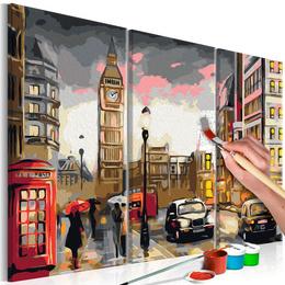 Pictura pe numere - Strazile Londrei
