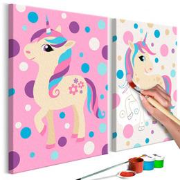 Pictura pe numere - Unicorni (Colorati Pastel)