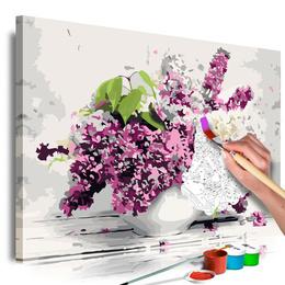 Pictura pe numere - Vaza si Flori