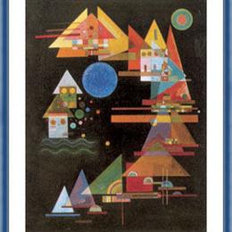 "Poster Kandinsky ""Triunghiuri, curbe"" inramat"