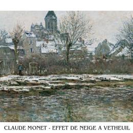 "Poster Monet ""Zapada la Vetheuil"""