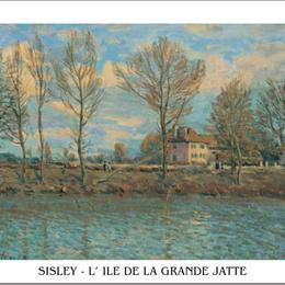 "Poster Sisley ""Insula grande Jatte"""
