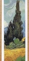 Poster Van Gogh Lan de grau si chiparos- fragment, rama patinata