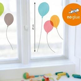 Sticker de geam ''Baloane colorate''