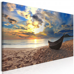 Tablou canvas Barca pe plaja