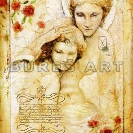 Tablou decorativ ''Dragoste materna'' inramat