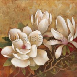 Tablou decorativ Flori de magnolie, inramat
