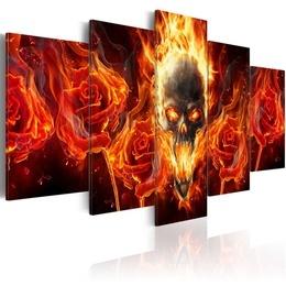 Tablou - Fiery skull