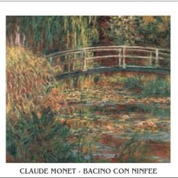 Tablou Monet Camp cu nuferi inramat, 60x80 cm