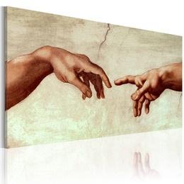 Tablou pictat manual - Crearea lui Adam, fragment