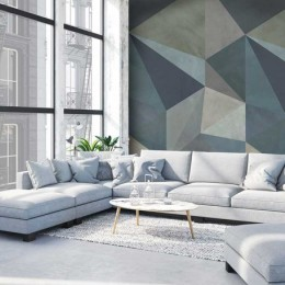 Tapet Loft cu model geometric
