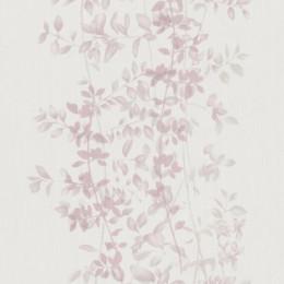 Tapet superlavabil crem Crengute cu frunze discrete