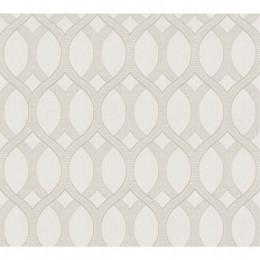 Tapet superlavabil design geometric cu gri pentru dormitor