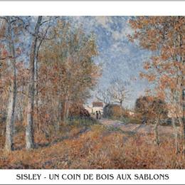 """Tablou Sisley """"Un colt de padure la Sablons"""" inramat"""