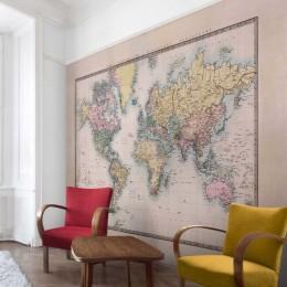 Fototapet vlies Harta lumii la 1850