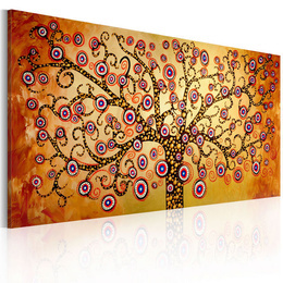 Tablou pictat manual - Peacock tree