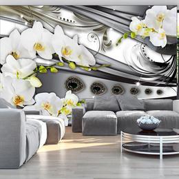 Fototapet 3D floral- Orchids & jewelry