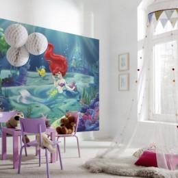 Fototapet copii cu desene Ariel mica sirena