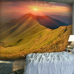 Fototapet lavabil Peisaj frumos de toamna in Carpati