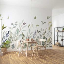 Fototapet vlies Pictura cu frunze in bataia brizei, 350x250 cm
