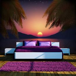 Fototapet vlies Seara romantica pe plaja