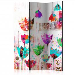 Paravan - Colorful tulips [Room Dividers]