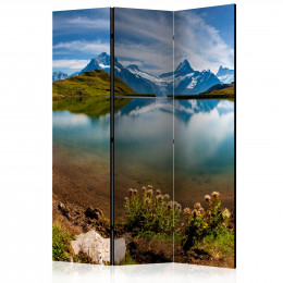 Paravan - Lake with mountain reflection, Switzerland [Room Dividers]