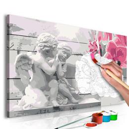 Pictura pe numere - Ingeri (Orhidee Roz)