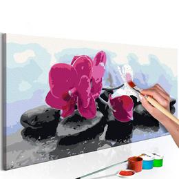 Pictura pe numere - Orhidee cu Pietre Zen