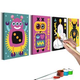 Pictura pe numere - Roboti