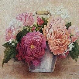 Poster incantator cu flori in vas