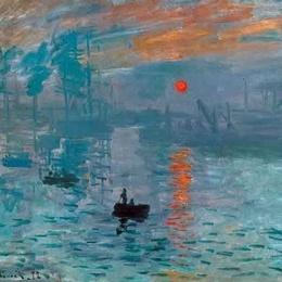 "Poster Monet ""Rasarit de soare"""