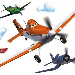 Sticker copii ''Avioane cu elice''