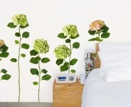 "Sticker de perete floral "" Hortensia"""