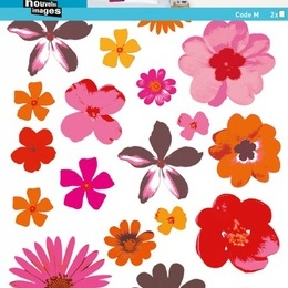 "Sticker decorativ ""Flori pop"""