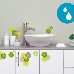 """Sticker decorativ pentru baie """"Frunze de nuferi"""""""