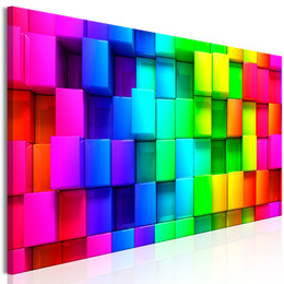 Tablou - Colourful Cubes (1 Part) Narrow