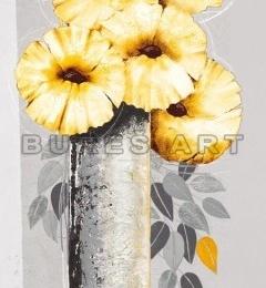 Tablou decorativ ''Flori galbene in vaza I'', inramat