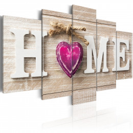Tablou - Home: Pink Heart