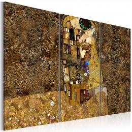 Tablou triptic - Klimt inspiration - Sarutul