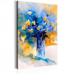 Tablou Vas cu flori pictural