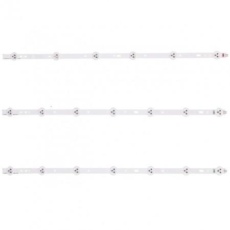 "LED Bar 32"" 6-7LED SET 3BUC BLK"