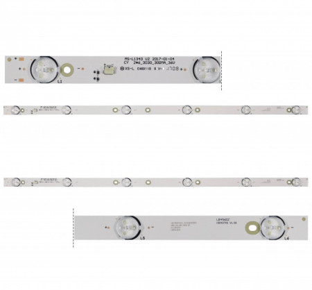 "LED Bar 32"" 6LED 2BUC 6V MS-L1343"