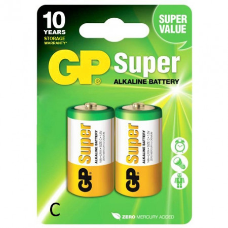 Baterie Super Alcalina LR14 1,5V GP