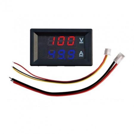 Ampermetru Voltmetru Digital 100V 50A