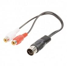 Cablu DIN 5P tata la 2x RCA mama