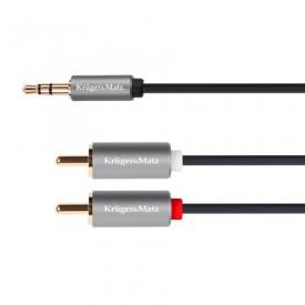 Cablu Jack 3,5 / 2x RCA 1.8M K&M Gold