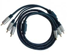 Cablu 3 RCA - 3 RCA 1.5M Gold