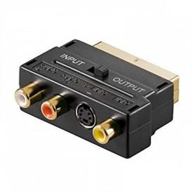 Adaptor Scart la RCA & SVHS switch Gold