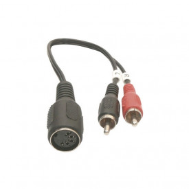 Cablu DIN 5P mama la 2x RCA tata
